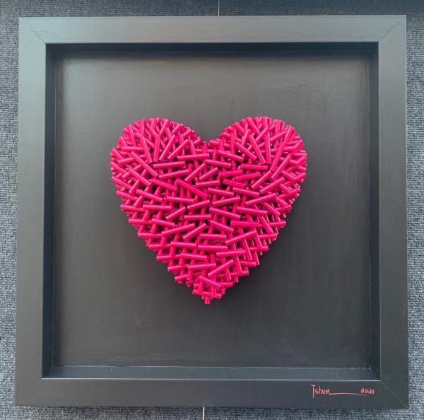 Fushia Love (21x21 inches) $395